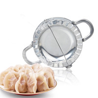 Wholesale New Moulds Stainless Steel - DIY Handmade Food Mould Tools Manual Creative Sturdy Boiled Dumplings Mold Stainless Steel Dumpling Maker Device New Arrival 10ga2 Z