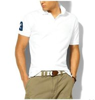 Wholesale Dropship Discount - discounted PoloShirt men's polos Short Sleeve T shirt Brand polos shirt High qulity 100% cotton solid color lapel Dropship Cheap tees