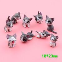 ingrosso mini figurine animali-Mini gatto figurine in miniatura giocattoli animali cartoon statua Modelli Bonsai Giardino Piccolo ornamento Paesaggio Casa Giardino Decorazione 2 ~ 3cm K0311