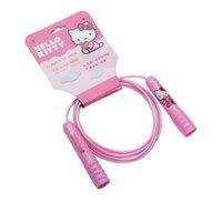 corda de salto de salto ajustável venda por atacado-Olá Kitty Girls crianças pular corda 8 pés ajustáveis Rope Skipping Exercício da aptidão Salto-de-rosa