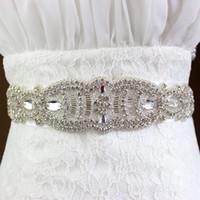 Wholesale Wedding Dress Sashes Wholesale - Luxury Bridal Belt 2018 Rhinestone Wedding Dress Bridal Accessories Belt Bridal Sashes