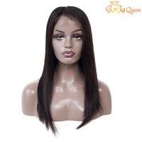 Wholesale human hair lace wigs unprocessed online - Lace Front Straight Human Hair Wigs inch Nature Color Brazilian Straight Hair Wigs Unprocessed Swiss Lace Frontal Wigs