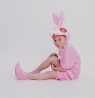 Wholesale horse children clothing - 2018 New style children Cosplay Pink Rabbit Brown horse Animal perform clothing Boys and girls Dance clothes