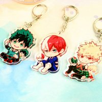 Wholesale 2018 fashion Lovely Cartoon Anime New Academia My Hero Academi Keychain Acrylic Key Ring Charms Gift