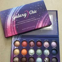 Wholesale baked eye shadow resale online - New Galaxy Chic Eye shadow palette color Baked Eyeshadow Palette Galaxy Chic Baked eyeshadow palette