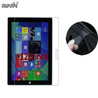 yüzey tablet koruyucuları toptan satış-2 ADET Temizle Yumuşak Ultra Ince Tablet Ekran Koruyucuları Için Yüzey Pro 4 / Yüzey Pro4 12.3