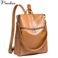 Wholesale korean style female backpack resale online - VMOHUO Korean Style Women Backpacks Fashion Leather Vintage Backpack Female High Quality Youth Leather Travel Bag Women Rucksack