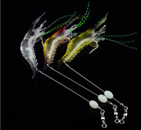 Wholesale soft prawn lures online - 90mm g Soft Simulation Prawn Shrimp Fishing Floating Shaped Lure Hook Bait Bionic Artificial Shrimp Lures with Hook