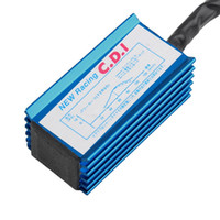 leistungszündspulen großhandel-Leistung 5 pin Racing CDI Blue Box + Zündspule Modul Für GY6 Roller Moped 50CC 70cc 90cc 110cc 125cc 150CC AAA320