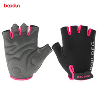 Wholesale summer fingerless gloves women resale online - BOODUN Summer Cycling Gloves Half Finger Crossfit Gym Fitness Gloves Sports Mtb Mountain Bicycle Bike Gloves for Men and Women