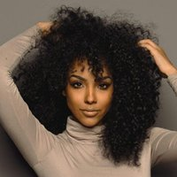 mongolian kinky curly full lace wigs 2018 - Full Lace Wigs Virgin Malaysian Human Hair With Baby Hair Kinky Curly Lace Front Wigs With 130% Density