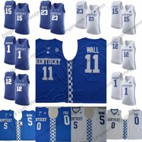 Wholesale Demarcus Cousins Jersey - Kentucky Wildcats #23 Anthony Davis 11 John Wall 12 Karl-Anthony Towns 15 DeMarcus Cousins 1 Devin Booker blue white NCAA Basketball Jerseys