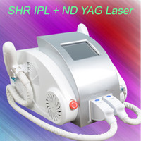 Wholesale ipl e light tattoo removal - SHR IPL Super Hair Removal Nd Yag Laser Tattoo Removal e light Skin Rejuvenation Machine For Salon