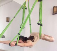 Wholesale swings for sale for sale - Group buy 20 colors Upgraded Stretch silked Antigravity Yoga hammock handles full set for sale aerial yoga swing