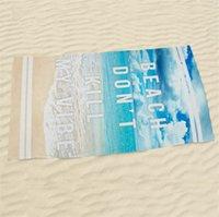 ingrosso teli da bagno 3d-Il nuovo asciugamano da spiaggia con stampa attiva Asciugamani da spiaggia in poliestere alla moda, accappatoio da stampa digitale 3D T4H0209