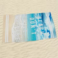 Wholesale Towelling Beach Robes Children - The new Active printing beach towel Trendy polyester beach towels 3D digital printing bath robe T4H0209