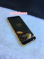 24ct gold gehäuse großhandel-Neueste für iphone 5 s se gehäuse metallrahmen batteriefach 8mu reales gold 24ct gold gehäuse se 5 s mini rückseite gehäuse rahmen