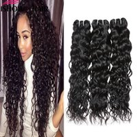 Wholesale ishow hair resale online - Ishow Human Brazilian Water wave Hair Extensions a Unprocessed Peruvian Wet And Weavy Vrigin Human Hair Bundles