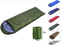 Wholesale hiking cold weather - Outdoor Sleeping Bags Warming Single Sleeping Bag Casual Waterproof Blankets Envelope Camping Travel Hiking Blankets Sleeping Bag