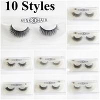 Wholesale Extensions For Long Hair - 10 Styles 3D Mink False Eyelashes Makeup Handmade False Lashes Eye Extension Thick Long False Eyelashes Mink Hair Natural for Beauty Makeup