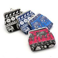Wholesale flag pouch - Retro Pattern Coin Purses Elephant Coin Purses Flag Wallets Pouch Gift Kids Money Bag 30 P