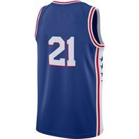 Wholesale New Jersey Drop Ship - Brand New Top Quality Wholesale Price 2018 Phila New Jerseys Embiid Jersey Stitched Basketball Jersey Embroidery Blue Drop Shipping