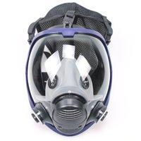 anti gaz maskeleri toptan satış-Tam Yüz Açık İşlevli Maske Maske Gaz Maskesi Anti-toz Sanayi ile Sanayi için Coon Filtre Kimyasal Maske Boyama