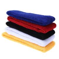 Wholesale towel hair bands resale online - Towel Absorbent Sport Sweat Headband Sweatband for Men Women Yoga Hair Bands Head Sweat Bands Sports Safety