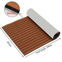 1 Pc Universel Brun Avec Tapis De Sol Noir Coffre De Voiture Tapis De Sol  En Mousse Deck Stripe 240x45cm