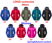 Wholesale outdoor hoodies - Brand Men And Women Outdoor Jackets Windproof waterproof Spring&Autumn Sports Jackets Ladies Coat Sweatshirt Hoodie Long Sleeve Hoodies