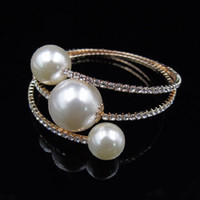 Wholesale fashion brand channel online - Crystal Mosaic bracelets brand fashion Imitation pearl ethnic Bracelet punk boho circular bead bracelets bangle women Jewelry
