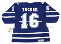 camisas camuflagem hóquei venda por atacado-Bordado personalizado Dos Homens DARCY TUCKER Toronto Maple Leafs 2001 CCM Vintage bordado Barato Retro Hockey Jersey
