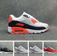 Wholesale B Patches - 90 patch running shoes 90 many color sneaker Authentic trainer sports shoes size 40-45 with box free shipping