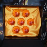 conjunto de estrelas dragonball z venda por atacado-Atacado New Animation DragonBall laranja azul 7 Estrelas sobre 4.3 CM Super Saiyan Dragon Ball Z Conjunto Completo caixa de brinquedos