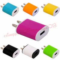 Discount adaptor charger 5v 1a - US Wall charger Ac home travel wall charger power adapter 5V 1A 1000mah adaptor for iphone 6 7 8 x samsung android phone mp3