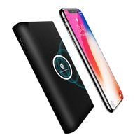Wholesale Battery Charge Pack - 10000mAh Wireless Phone Charge External Battery Pack for iphone X iphone 8 8 Plus 5V 2A Slim Wireless Phone Charge Power Bank