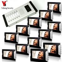 kits de campainha com fio venda por atacado-YobangSecurity 12 Unidades Apartamento Interfone Wired 7