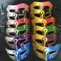 Wholesale venetian full face masks - Halloween Jazz Party Mask Cosplay Costume Unisex Sparkle Masquerade Venetian Mask Mardi Gras Masks Christmas WX9-704