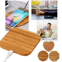 Wholesale wooden qi charger for sale – best Qi Wireless Charger Bamboo Wooden Wireless Charger Pad Wireless Charging For iphone Samsung LG All Qi abled Devices Free DHL