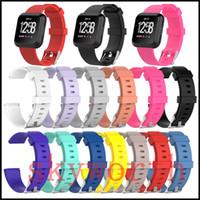 neutrale uhren großhandel-Silikon-Ersatzgurte TPE-Band für Fitbit Versa Lite Uhr Intelligente, neutrale, klassische Armband-Armband mit Nadelverschluss