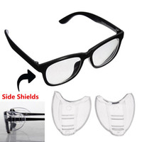 Wholesale optical glass protector - 2Pcs PVC Safety Optical Aye Mate Universal Sideshield Side Shields Glasses Wings Safety Glass Flexible Slip-On Protector eyewear