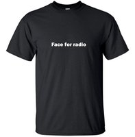 ingrosso adolescenti divertenti scherzi-Face for radio - Funny Gift T-Shirt per adulti Black Joke Large Custom