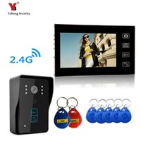 Wholesale entry phone - Yobang Security Resolution Wireless Video Door Phone Door Entry Intercom Systems Wireless Camera Video Intercom Doorbell