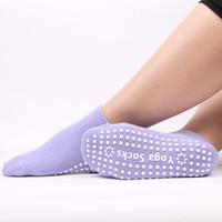 chaussettes antidérapantes hommes achat en gros de-Chaussettes de yoga de haute qualité anti-dérapantes à séchage rapide pour le bandage d'amortissement Pilates Ballet Chaussettes Une bonne adhérence pour les chaussettes en coton pour hommes