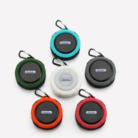 Wholesale mini suction cup speaker resale online - C6 Speaker Bluetooth Speaker Wireless Potable Audio Player Waterproof Speaker Hook And Suction Cup Stereo Music Player With package MIS183