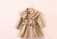 Wholesale girls double breasted jacket online - Fashion Baby Girls Coat Spring Autumn New Double breasted Jacket Toddler Girl Clothing Kids Girl Clothes Fille Outwear coats B11