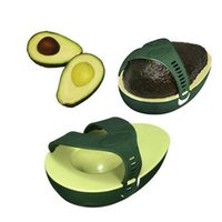 Wholesale innovative kitchen - Green Avocado Stay Fresh Saver Leftover Half Food Holder Keeper Kitchen Gadget Plastic Hot Innovative Green Avocado Stay Fresh