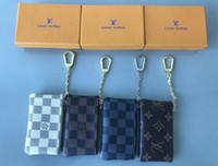 koreanische schlüsselbeutel großhandel-KEY POUCH Damier Leinwand enthält hochwertige berühmte klassische Designer Frauen Schlüsselanhänger Geldbörse kleine Lederwaren Tasche keine Box