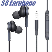 Wholesale white microphones resale online - S8 Earbuds Earphones Headsets for Samsung Galaxy Note S7 S8 Plus In Ear mm Headphones Microphone EO IG9550 Black White Headset