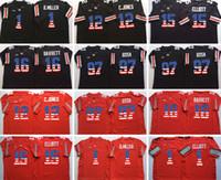 Wholesale flag football jerseys - NCAA Ohio State Buckeyes #15 Ezekiel Elliott 12 Cardale Jones 16 BARRETT 1 Braxton Miller WILSON 97 Bosa College Limited Flag Red Jerseys